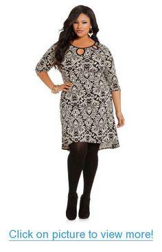 Ashley Stewart Women's Plus Size Baroque Print Dress