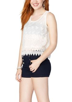 Layered Floral Crochet Tank | Going Out | rue21