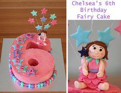 Number 6 Fairy Cake 6th Birthday Cakes, Minnie Mouse Birthday Cakes, Birthday Wishes Cake, Happy Birthday Signs, 6th Birthday Parties, Birthday Cake Girls, My Little Pony Birthday, Fairy Cakes, Number Cakes