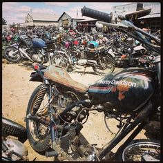 bike junkyard in arizona, usa. what a playground!! | abandoned