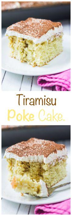 Tiramisu Poke Cake - Bake with Christina.