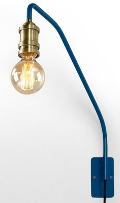 Starkey Wall Lamp, Blue and Brass