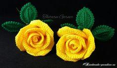 Желтые розы крючком. Мастер-класс (1)