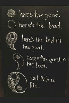 There's always had with the good and good with the bad.