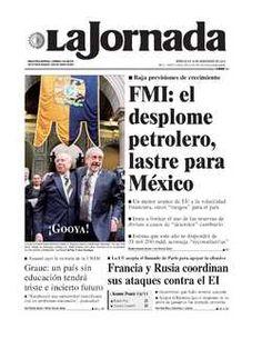 LA JORNADA: CONSTITUCIONALISTAS CUESTIONAN DOS CANDIDATURAS A LA SUPREMA CORTE.Portada de 2015/11/18. Seleccione para ir a esta edición.