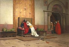 Excommunication of Robert the Pious, 998. -  Jean-Paul Laurens (1838-1921)