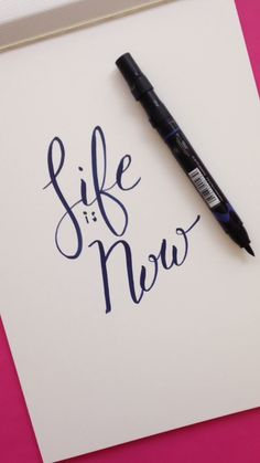 Life is Now Hand Lettering Tutorial