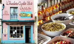 Wheelers Oyster Bar and David Brown Delicatessen, both in Whitstable> Photographs: Alamy and Justin