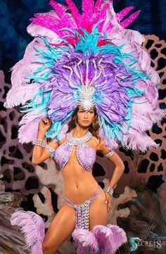 Samba in Lavender Brazil Carnival Costume, Carribean Carnival Costumes, Carnival Dancers, Carnival Girl, Carnival Outfits, Trinidad Carnival, Caribbean Carnival, Rio Carnival, Brazil Costume