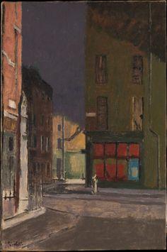 "Walter Sickert (German, 1860 – ""Maple Street, London"", circa 1922 via The Metropolitan Museum of Art Walter Sickert, London Painting, Modernisme, Cityscape Art, Impressionist Artists, Paintings I Love, London Art, Baker Street, Urban Landscape"