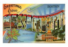 Massachusetts Greeting Card