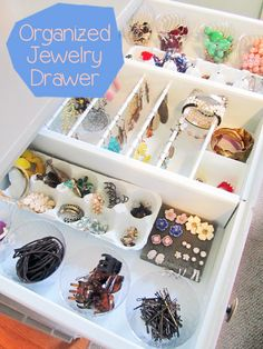 I keep my jewelry and makeup in the top two drawers of this little dresser in my bedroom.         I'm very organized but this drawer was n...