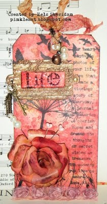Hels Sheridan I love this tag. I would love it in a journal. I love the colors and the rose. Just everything about it I love.
