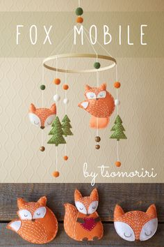 Fox baby mobile – tsomoririDESIGN Fox baby mobile – tsomoririDESIGN,loisirs créatifs Fox baby mobile / woodland nursery decor/ felt forest animals / gift for kids/ children/ girls/ boys Related posts:Home decor, home ideas, house. Kids Crafts, Diy Crafts To Sell, Felt Crafts, Woodland Nursery Decor, Woodland Mobile, Forest Nursery, Woodland Baby, Christmas Gifts For Kids, Sewing