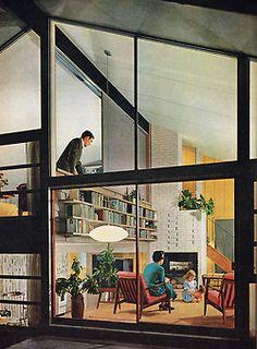 dtxmcclain: Split-level house, 1955. Repinned by Secret Design Studio, Melbourne. www.secretdesignstudio.com