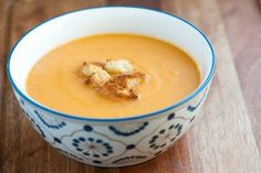 Creamy Vegetable Soup Recipe on inspiredtaste.net