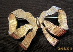 Sarah Coventry Silver Bow Lapel Pin or Brooch by VintageLoversShop, $10.00