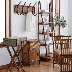 Natural Accent Rattan Bamboo Luggage Stand & home collection from The Company Store