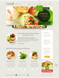 Super isn't it??   Cooking Website Template CLICK HERE! live demo  http://cattemplate.com/template/?go=2clireq