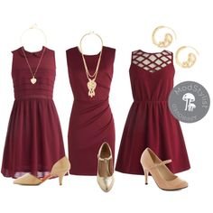 Wine Bridesmaid Dresses By Modcloth On Polyvore Maroon Wedding 2017