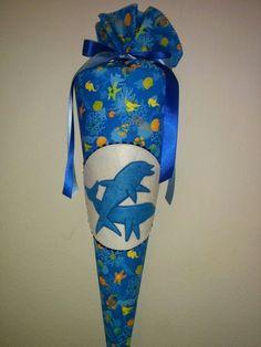 Delfine! Schultüte aus Stoff und später als Kissen zu nutzen! Design-gn.de von Stadtatelier Eisvogel Kollektion 2015