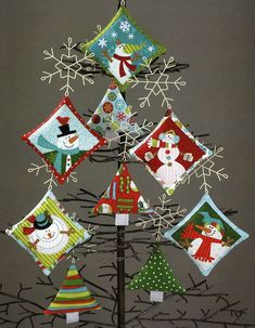 Ho Ho Ho Let It Snow sewing pattern/project book by Nancy Halvorsen Art to Heart Quilted Christmas Ornaments, Christmas Patchwork, Christmas Quilt Patterns, Fabric Ornaments, Felt Ornaments, Christmas Stockings, Homemade Christmas Gifts, Christmas Crafts, Christmas Decorations