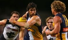 Josh Kennedy goes forward for the Eagles at Domain Stadium (Paul Kane/Getty Images)