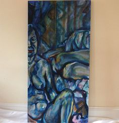 Lady In Blue  Original Oil Painting FREE USA by kellygormanartwork