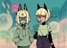 Skullgirls, Character Art, Character Design, Fan Art, Monster Girl, Illustrations, Jojo's Bizarre Adventure, Cartoon Styles, Cartoon Drawings