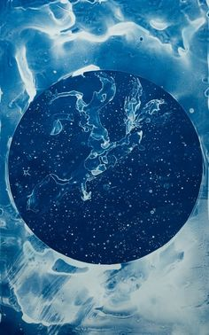Your Body is a Space That Sees: Artist Lia Halloran's Stunning Cyanotype Tribute to Women in Astronomy | Horsehead Nebula (after Williamina Fleming)