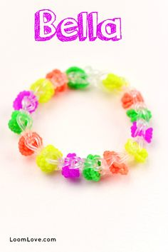 How to make a Rainbow Loom Bella Bracelet