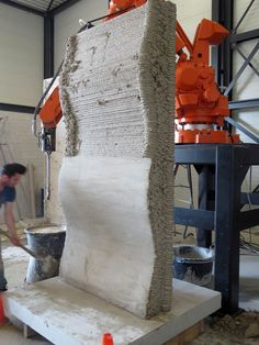 3D printed concrete formwork by Heijmans (the lower surface manually smoothed)