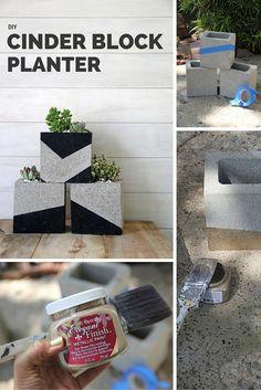 Check out the tutorial: DIY Cinder Block Planter #DIY #HomeDecor #gardening