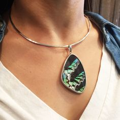 Butterfly Wing Necklace-Sterling Collar