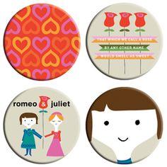 Romeo & Juliet BabyLit buttons