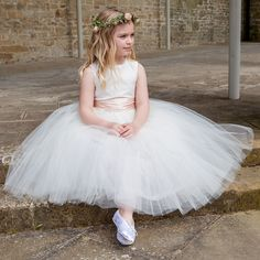 ff19693d62 Exquisite hand made traditional flower girl dresses and girls tutu style bridesmaid  dresses at Sue Hill. Beautiful silk and cotton special occasion dresses ...