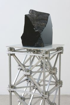 Mark Hagen. To Be Titled (Subtractive Sculpture #10), 2012. Rainbow obsidian and aluminum space frame, 51 x 14 1/4 x 14 1/4 in. Courtesy of Anthony and Celeste Meier, © Mark Hagen. SFMOMA Auction 2013 Estimate: $10,000 Source: http://www.sfmoma.org/exhib_events/artauction/silent/artwork/2013_15S#ixzz2RUvG4Xjb San Francisco Museum of Modern Art