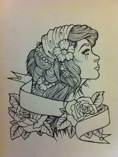 She's beautiful.  I've been thinking of getting a gypsy as a quarter sleeve on my shoulder.