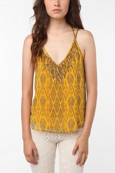 urban outfitters: ecote embellished chiffon cami. $68.00