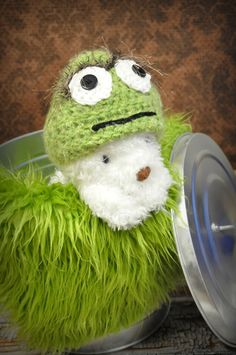 Oscar the Grouch hat by JLloPhotographyProps on Etsy, $30.00