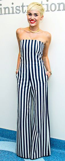 Graphic black and white stripes were seen all over the spring collections. I may not have the courage to rock a black and white striped jumpsuit like Miley Cyrus, but I will make a subtle statement with one high impact piece.  Miley Cyrus in Chanel.  Below are a...