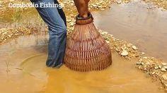 Amazing Man Fishing by Traditional Tools   Traditional Khmer Fishing   C...