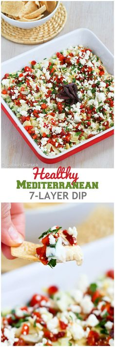 Japanese Diet - Healthy Mediterranean Dip Recipe will disappear in minutes at your next calories and 2 Weight Watcher SmartPoints Discover the World's First & Only Carb Cycling Diet That INSTANTLY Flips ON Your Body's Fat-Burning Switch Snacks Für Party, Appetizers For Party, Party Dips, Appetizer Dips, Appetizer Recipes, Vegetarian Appetizers, Dinner Recipes, Party Dip Recipes, Salad Recipes