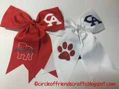 Photo on Circle of Friends Crafts: CA Bulldogs Hairbows