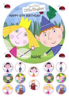 BEN AND HOLLYS little kingdom 7.5 round edible by mamabears5