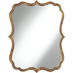"""Uttermost Spadola 30"""" High Hammered Copper Wall Mirror (380 CAD) ❤ liked on Polyvore featuring home, home decor, mirrors, brown, interior wall decor, copper home decor, copper mirror, uttermost home decor and wall mirrors"""