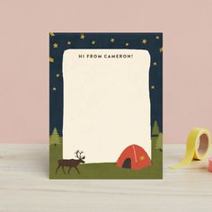 Best camp care package ideas for tweens and teens: personalized camp stationery of course! (With stamps) This one from minted | Cool Mom Picks #carepackageideas #giftsforkids #summercamp #campgifts #giftsfortweens #giftsforteens Tween Gifts, Gifts For Teens, Camp Care Packages, Camp Stationery, Best Summer Camps, Sleepaway Camp, Cool Mom Picks, Cool Gifts For Kids, Camping Gifts