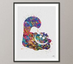 Cheshire Cat Quote Alice in Wonderland Watercolor by CocoMilla