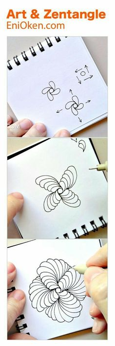 Learn How To Create Beautiful Showgirl Zentangle With This Hour Long Video Zentangle Drawings, Doodles Zentangles, Abstract Drawings, Doodle Drawings, Doodle Art, Zen Doodle, Doodle Patterns, Zentangle Patterns, Doodle Borders