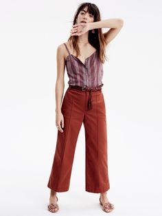 madewell wide-leg pants worn with the braided tassel belt. call 866-544-1937 or email shopfirst@madewell.com to pre-order.